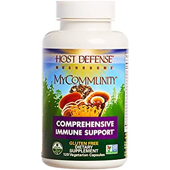 Host Defense - MyCommunity Capsules, Multi Mushroom Support for Immune Response, 120 Count (FFP)