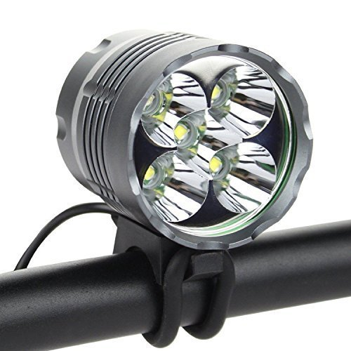 Ankong® Waterproof 5600 Lumens 5X CREE XM-L T6 LED Bicycle Light 3-Mode Bike Headlight Bright Outdoor Bike Lamp Light LED Lighting Headlamp with 18650 Rechargeable Battery Pack and Charger - Xml T6 Led Bike