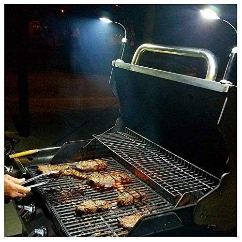 BRIGHT EYES - Magnetic Barbecue BBQ Light Set for Grilling - 6 Alkaline AAA Batteries Included -...
