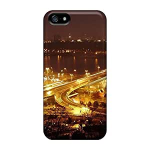 pragmatic For SamSung Galaxy S5 Phone Case Cover - Eco-friendly Retail Packaging(night Bridge Highway Lights)