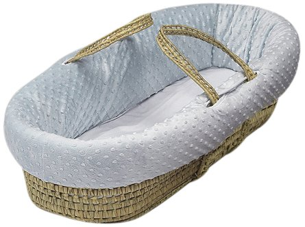 Baby Doll Bedding Heavenly Soft Doll Moses Basket Set, Blue by BabyDoll Bedding   B007QQOEGC