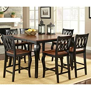 Roslyn 7 piece counter height dining set for Dining room tables on amazon