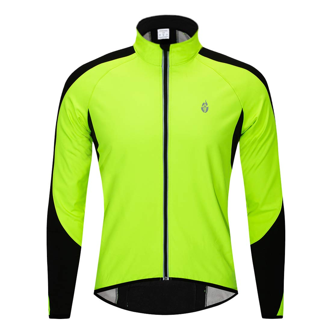 4594098f6 Amazon.com  Wolfbike Fleece Thermal Cycling Jacket Jersey Long Sleeve  Windproof UV-Protect Coat Green  Sports   Outdoors
