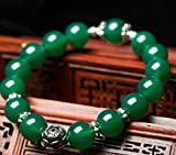 The Starry Night Tibet Style Natural Green Agate Bracelet With Good Luck and Fortune Hand String