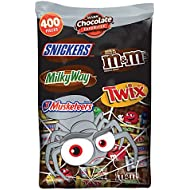 MARS Chocolate Halloween Candy Variety Mix 126.3-Ounce 400-Piece Bag