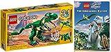 Lego Mighty Dinosaurs Set Jurassic World Animated DVD & Dinosaur Creator Pack - The Indominus Escape Movie & T-Rex Lego building kit bundle