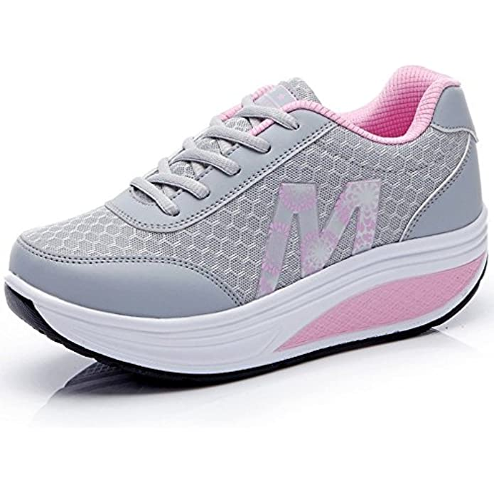 CN-Porter Women's Fashion Sneakers Lace Up Breathable Casual Waking Shoes