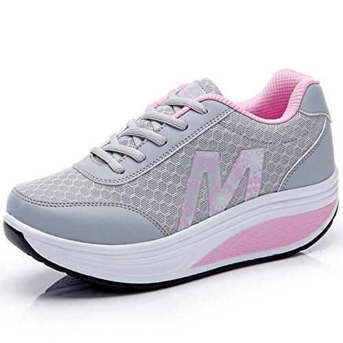CN-Porter Women's Comfortable Platform Walking Sneakers Lightweight Casual Tennis Air Fitness Shoes