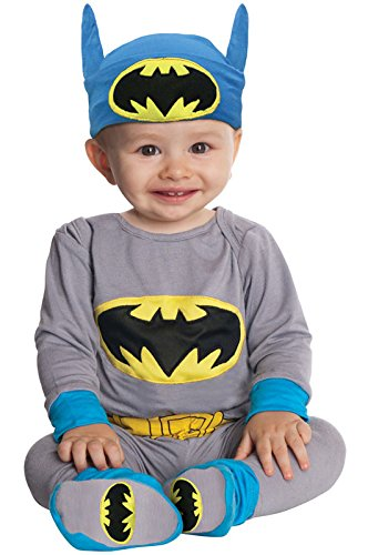 [DC Comics Gray Batman And Headpiece, Gray, 6-12 Months Costume] (Batman Outfit Baby)