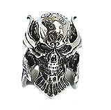 Men's Stainless Steel Finger Rings Classic Gothic Tribal Biker Punk Silver Black 2.6cm