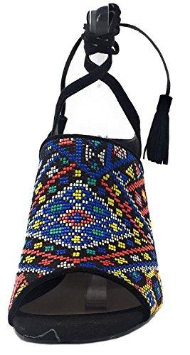 Sandalias Mujer FLEH21FAP09 negro colores Guess 4qzBff