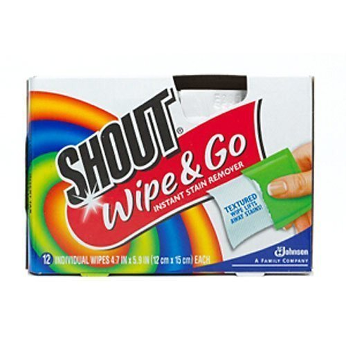 Shout Wipe & Go 12Ct Wipes 4 Pack, Multicolor