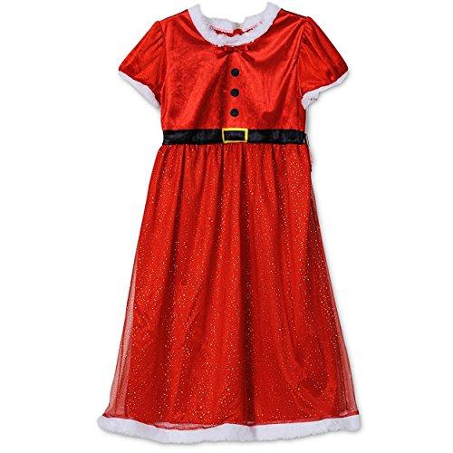 Komar Kids Little Girls' Miss Santa Red Holiday Nightgown XS/4-5