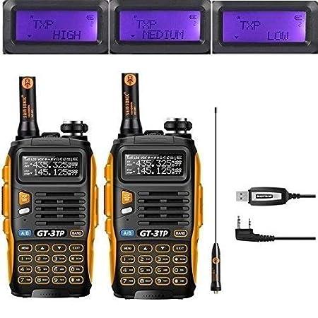 Baofeng GT-3TP Emetteur/Récepteur Radio (2 PCs with Programming Cable)