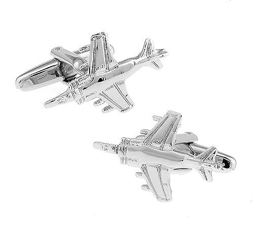 Mach 7 mancuernas del avión con mancuernas de caja de la mancuerna de la marca de la estrella: Amazon.es: Joyería