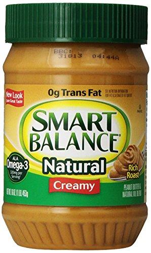 Dinner Balance (Smart Balance Omega Natural Peanut Butter, Creamy, 16 Ounce)