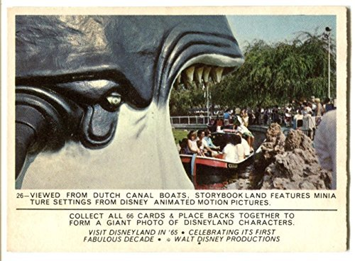 - 1965 Donruss Disney Disneyland #26 Viewed from Dutch Canal Boats Storybook Land Puzzle Back Trading Card