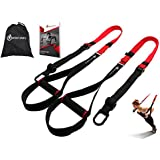 """Bodyweight Fitness Resistance Trainer Kit with Pro Straps for Door, Pull up Bar or Anchor Point. Lean, Light, Extra Durable for Complete Body Workouts. E-Book """"12 Week Program"""" """"Patent Pending"""""""