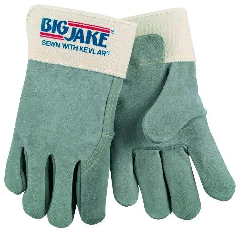 Mcr Safety Memphis Glove 1717 Big Jake Cow Leather Gunn P...
