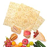 Beeswax Food Wrap 3 pack Eco Friendly Reusable Food Wraps,1 Small,1 Medium,1 Large Sustainable, Washable