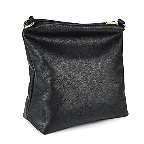 Bolsos Bandolera Pcs de 2 Bolsos Coofit Bolsos Mujer Negro Bolso de Moda RqrAw6RPxI