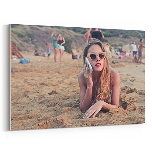 Westlake Art Beach Sunglasses - 5x7 Canvas Print Wall Art - Canvas Stretched Gallery Wrap Modern Picture Photography Artwork - Ready to Hang 5x7 Inch