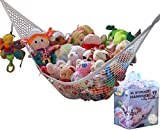 basement wall ideas MiniOwls Toy Storage Hammock X-Large Organizer and De-cluttering Solution for Every Kid's Room, Nursery & Playroom (White, XL)