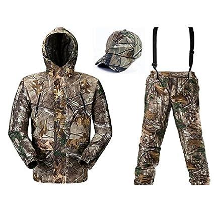 damaizhang camuflaje caza trajes transpirable pesca traje ropa primavera chaqueta de camuflaje caza camuflaje Suspender Pantalones