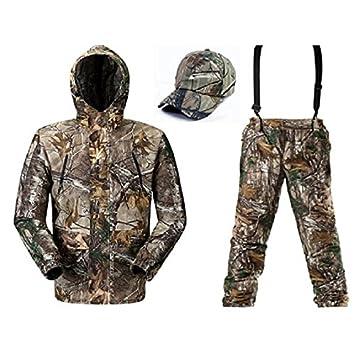 damaizhang camuflaje caza trajes transpirable pesca traje ropa primavera chaqueta de camuflaje caza camuflaje Suspender Pantalones, camo as picture: ...