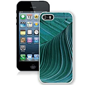 Fashionable Custom Designed iPhone 5S Phone Case With Swirly Wave Electron Microscope Imagery_White Phone Case
