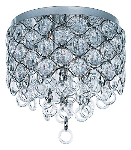 - Maxim 23090BCPC Cirque 7-Light Flush Mount, Polished Chrome Finish, Beveled Crystal Glass, G9 Xenon Xenon Bulb , 100W Max., Wet Safety Rating, Standard Dimmable, Glass Shade Material, 1150 Rated Lumens
