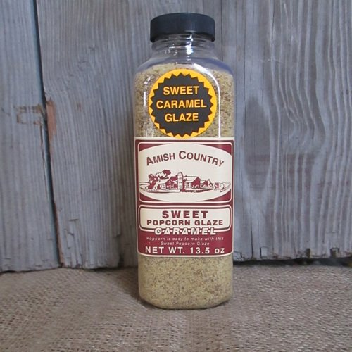 Sweet Caramel Glaze Popcorn Seasoning - 13.5 oz Amish Country Pop Corn Movie Flavor Caramel Glaze