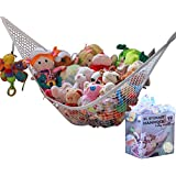 MiniOwls STORAGE HAMMOCK XL Toy Organizer (also comes in Large) De-cluttering Solution & Inexpensive Idea for Every Room at Home or Facility - 3% is Donated to Cancer Foundation