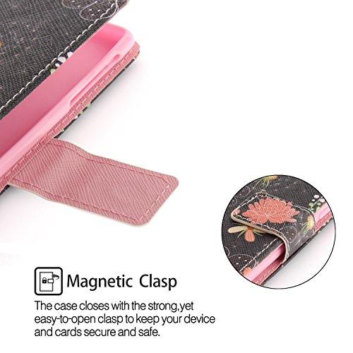 pour Cuir Fleur de TX Etui BONROY couleur Portefeuille Coque Premium Rétro colorée Support Coque Flip Fleur PU Housse 3 Nokia Nokia Etui 3 HHqOxwBR6