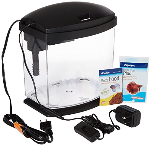 Aqueon PRODUCTS 015905178020 LED Minibow Aquarium Kit, 1 gallon, Black by Aqueon