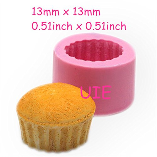 086LBG 3D Cupcake 22mm Mold Silicone Flexible Mold Deco Kawaii Miniature Sweets Mold Fimo Jewelry Charms Food Wax Soap (Soap Miniature Mold)