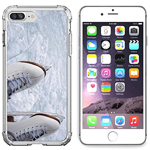 Luxlady Apple iPhone 6 Plus iPhone 6S Plus Clear case Soft TPU Rubber Silicone Bumper Snap Cases iPhone6 Plus iPhone6S Plus IMAGE ID 4221882 closeup of figure skating ice skates - Snow Skating