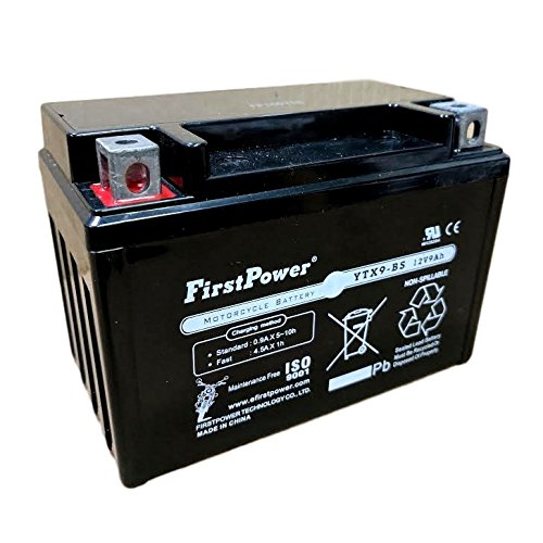(1) FirstPower YTX9-BS for ATV HONDA TRX300EX, Sportrax 300CC 93-'09