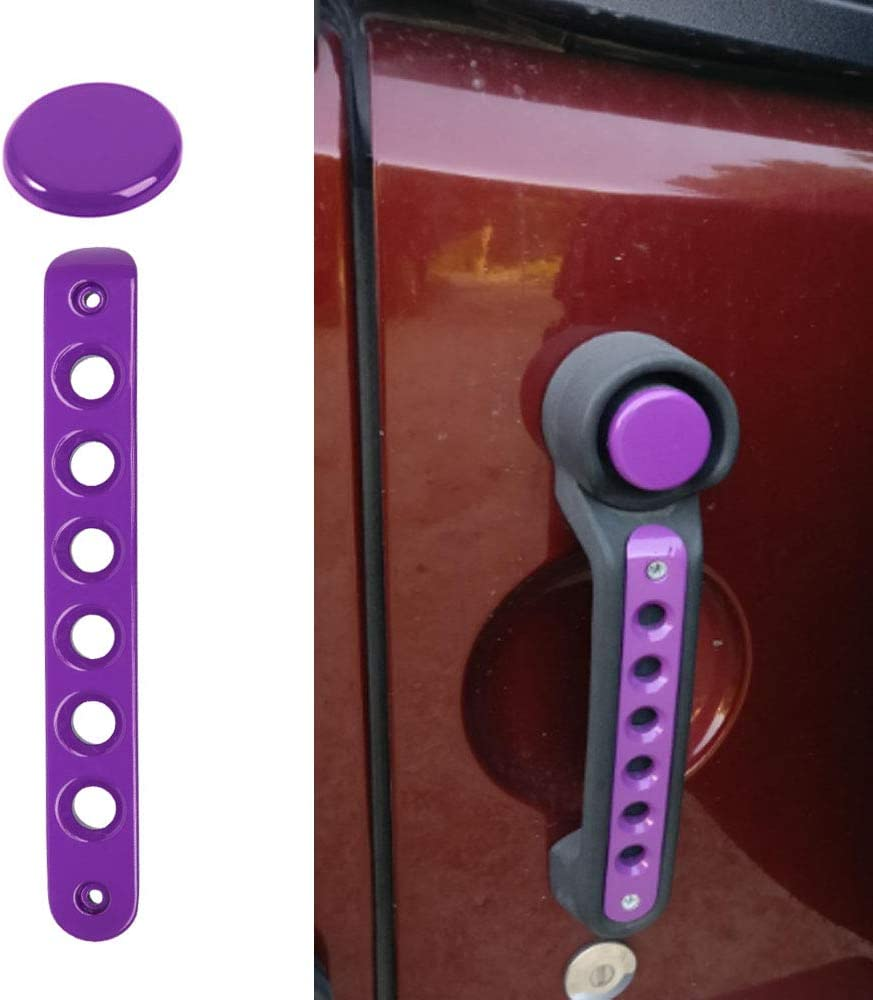 Opall for Jeep JK Grab Handle Inserts Cover+Push Button Knobs Cover Trim for 2007-2018 Jeep Wrangler JK /& Unlimited 5PCS Pink