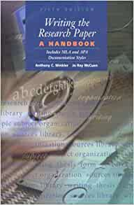 Writing the research paper: a handbook: anthony c.
