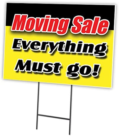 14inx10in, Decal Sticker Multiple Sizes Moving Sale Everything Must Go Business Business Moving Sale Everything Must Go Outdoor Store Sign Yellow