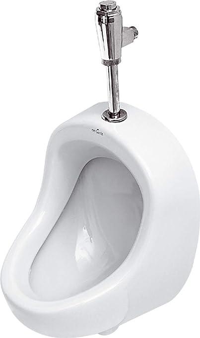 VBChome Urinal Zulauf Oben Wei/ß Modern Hochwertig Keramik Pinkelbecken senkrecht Pissoir Pico Set Sp/ülventil Urinalsp/üler Drucksp/üler ALTERNA IRIS