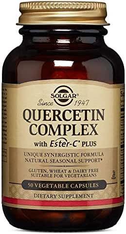 Solgar – Quercetin Complex with Ester-C Plus, 50 Vegetable Capsules