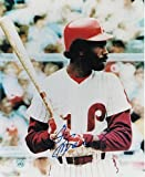 Garry Maddox Philadelphia Phillies Autographed 8x10 Photo At Bat - Signed MLB Photos