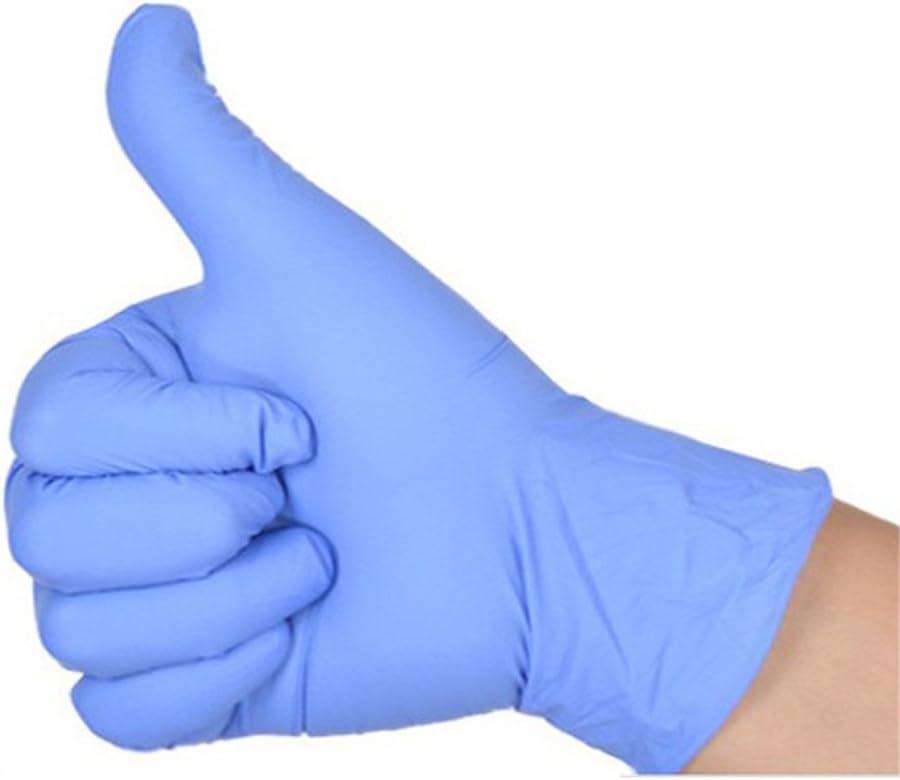 violet clair GS 100/pcs jetables sans poudre Gants en nitrile Examen en latex caoutchouc aux Huiles Acide r/ésistance Gants pour la nourriture Traitement Medical Laboratory m/énagers Taille M