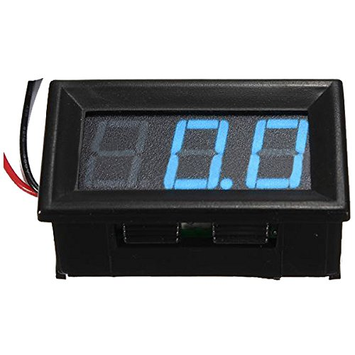 SODIAL(R) 0.56inch Car LED Digital Display Panel Volt Meter Voltmeter 3 Wire, 0-10V Blue