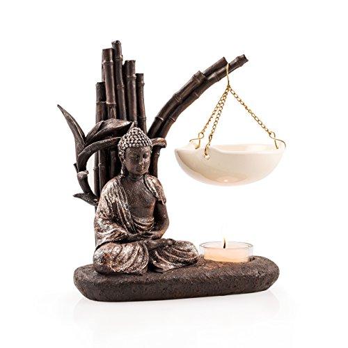 PAJOMA 40791 Duftlampe Buddha ,Kunstharz, Höhe 13 cm