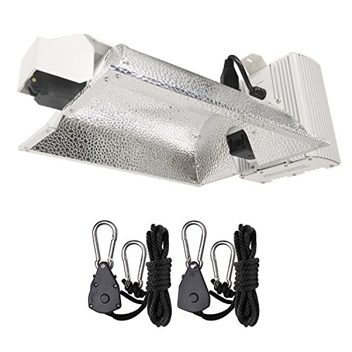 Hydro Crunch DCMH02-630-ROPE 630-Watt CMH Double Ended DE Ceramic Metal Halide Enclosed Style Grow Light System, White