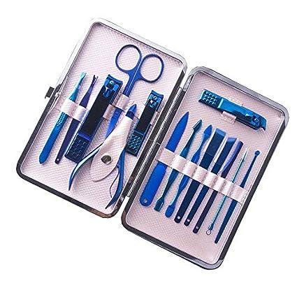DHXYII Juego de cuchillos de manicura 15Pcs Color De ...