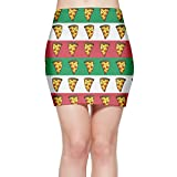 DSaobuwdress Vintage Italian Flag Pizza Funny Women Comfort Stretchable Above The Knee Pencil Skirt 17''